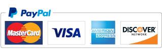 Pay via PayPal - MasterCard, Visa, American Express, Discover